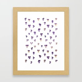 Johnny Jump Up Pattern Framed Art Print