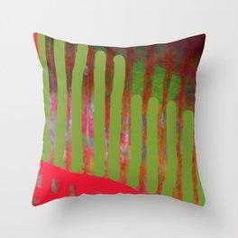 Green Passage Throw Pillow