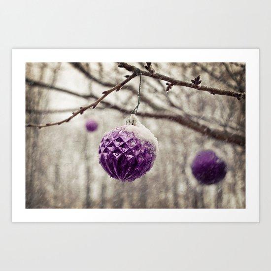 Amethyst Winter Art Print
