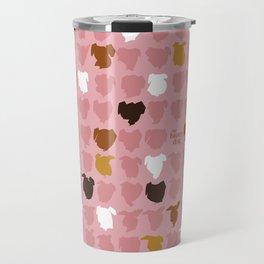 Bandit - pink pattern Travel Mug