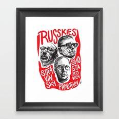 Russkies-Russian composers Framed Art Print