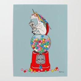 Unicorn Gumball Poop Poster