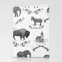political Stationery Cards featuring Political Toile by Jessica Roux