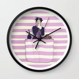 mary in the pocket Wall Clock