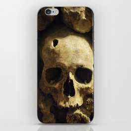 Skull From Catacombs in Paris iPhone Skin