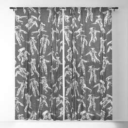 I Dream Of Space Sheer Curtain