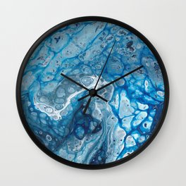 Blue Lava Wall Clock