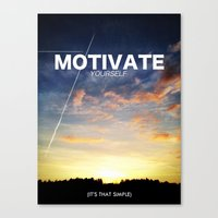 motivation Canvas Prints featuring Motivation by Damn Fresh