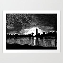 Boston, Back Bay at Sunrise Art Print