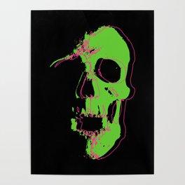 Skull - Lime Poster