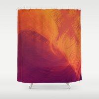 aurora Shower Curtains featuring Aurora by Allie at Shed63