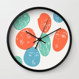 Round Faces Wall Clock