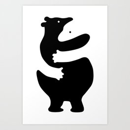 Huggers Art Print