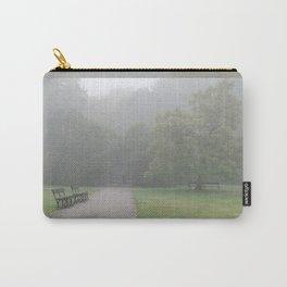 Gloomy autumn fog in park Carry-All Pouch