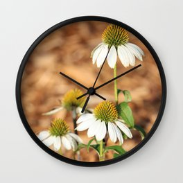 Last Of The Cone Flowers Wall Clock