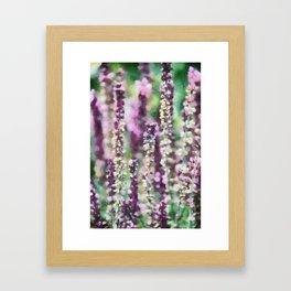 Purple Ribbons Framed Art Print