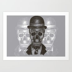 Worked To Death (Grey version) Art Print