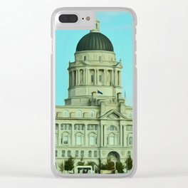 Port of Liverpool Building (Digital Art) Clear iPhone Case