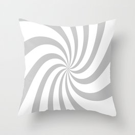Spiral (Gray & White Pattern) Throw Pillow