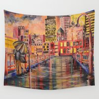 minneapolis Wall Tapestries featuring Minneapolis  by Kali Koltz