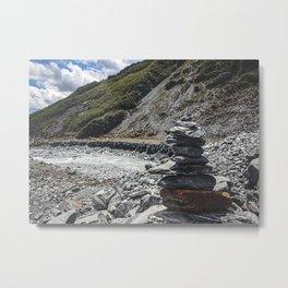 Stacked Stones Franz Josef Metal Print