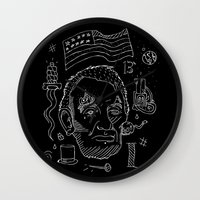 lincoln Wall Clocks featuring Abraham Lincoln by Maioriz Home
