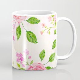 English Rose Pattern 02 Coffee Mug