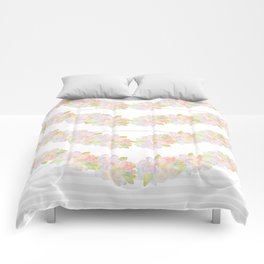 Watercolor floral love Comforters
