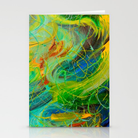 NAUTICAL GALAXY - Beautiful Aquatic Blue Green Ocean Universe Abstract Acrylic Painting Gift Decor Stationery Cards