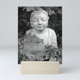 Buddha back and white Mini Art Print