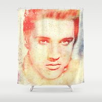 elvis Shower Curtains featuring ELVIS by MyimagesArt