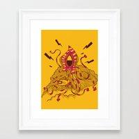 kraken Framed Art Prints featuring Kraken! by Popnyville