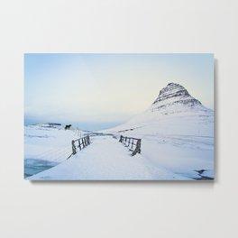Kirkjufell- Icelandic Horses Metal Print
