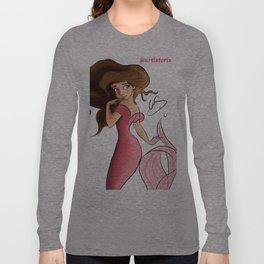 Mermaid Aqua Long Sleeve T-shirt