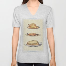 Chaudfroid Dished Turkey en Chaudfroid Chaudfroid of Salmon and Chaudfroid of Ham from Mrs Beetons B Unisex V-Neck