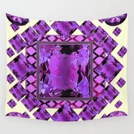 ART DECO PURPLE AMETHYST FEBRUARY GEM BIRTHSTONE MODERN ART Wall Tapestry