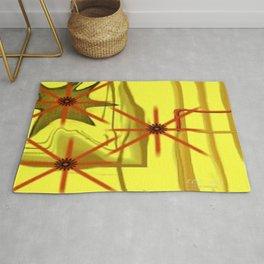 Three Stars Abstract Art by Saribelle Rodriguez Rug