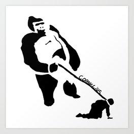 Gorillas Rule Art Print