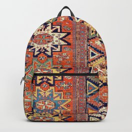 Southwestern Farmhouse III // 19th Century Colorful Red Yellow Blue Green Aztec Farm Stars Pattern Backpack