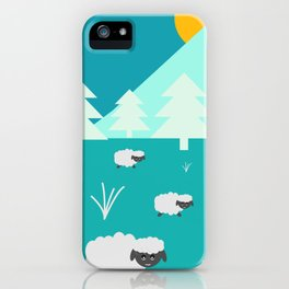 Grazing sheep iPhone Case