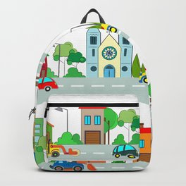 Cars in the town Backpack