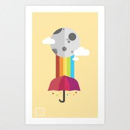 Rainin Rainbow Art Print