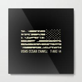 USNS Cesar Chavez Metal Print