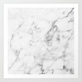 White Marble Kunstdrucke