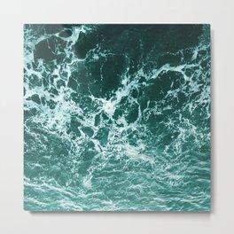 Upside Down Sea Water Splash Metal Print
