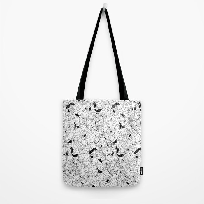 Daffodils spring floral pattern Tote Bag