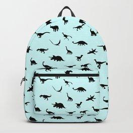 Baby Blue Dinosaur Print Backpack