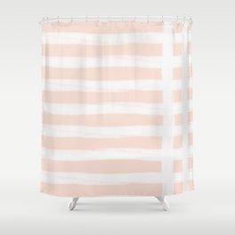 Blush Gross Stripes 2 Shower Curtain