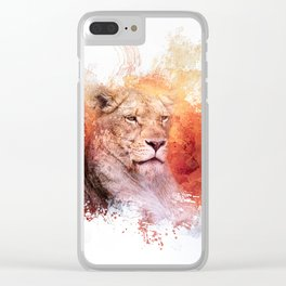 Expressions Lioness Clear iPhone Case