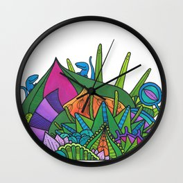 Little Monster Island Wall Clock